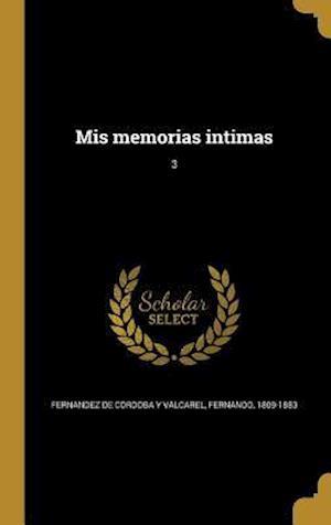 Bog, hardback MIS Memorias Intimas; 3