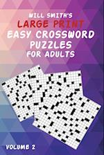Will Smith Large Print Easy Crossword Puzzles for Adults- Volume 2