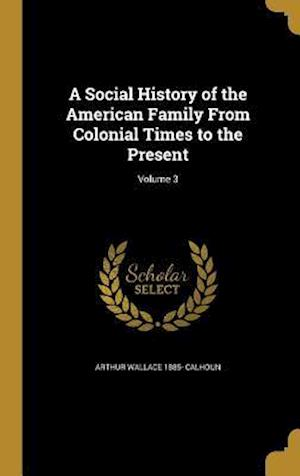 Bog, hardback A Social History of the American Family from Colonial Times to the Present; Volume 3 af Arthur Wallace 1885- Calhoun
