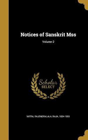 Bog, hardback Notices of Sanskrit Mss; Volume 2