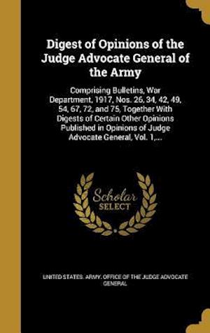 Bog, hardback Digest of Opinions of the Judge Advocate General of the Army