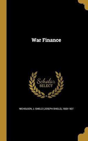 Bog, hardback War Finance
