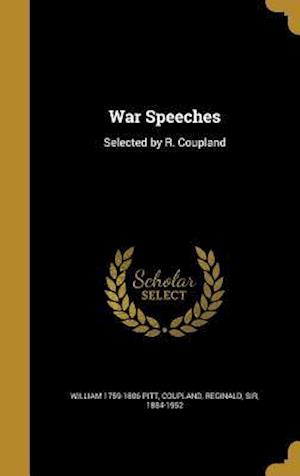 War Speeches af William 1759-1806 Pitt