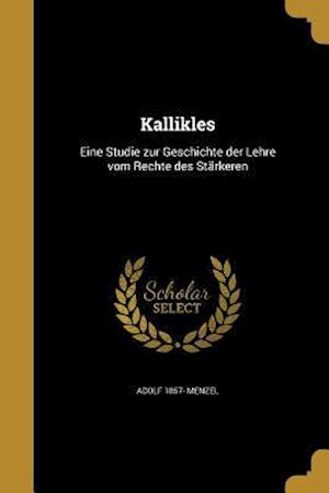Kallikles af Adolf 1857- Menzel