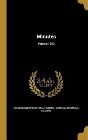 Bog, hardback Minutes; Volume 1890