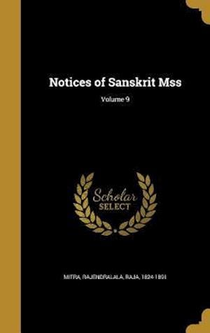 Bog, hardback Notices of Sanskrit Mss; Volume 9