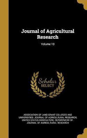Bog, hardback Journal of Agricultural Research; Volume 10