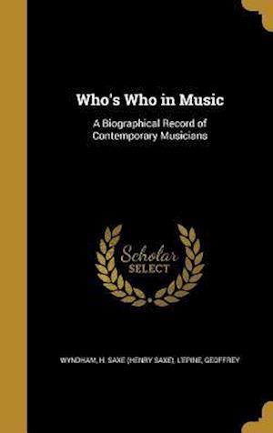Bog, hardback Who's Who in Music