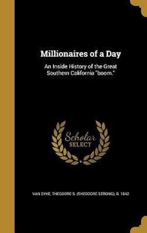 Bog, hardback Millionaires of a Day