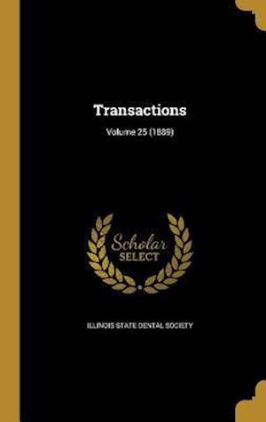 Bog, hardback Transactions; Volume 25 (1889)