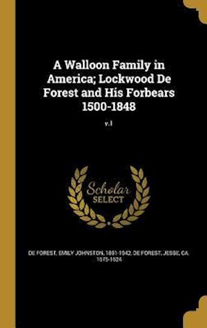 Bog, hardback A Walloon Family in America; Lockwood de Forest and His Forbears 1500-1848; V.1