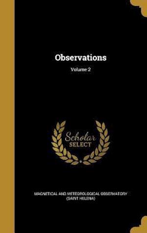 Bog, hardback Observations; Volume 2