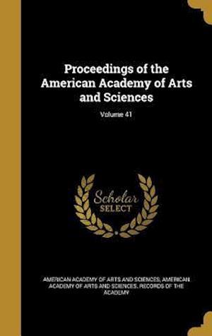 Bog, hardback Proceedings of the American Academy of Arts and Sciences; Volume 41