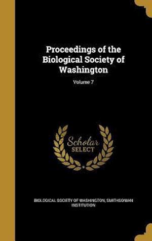 Bog, hardback Proceedings of the Biological Society of Washington; Volume 7