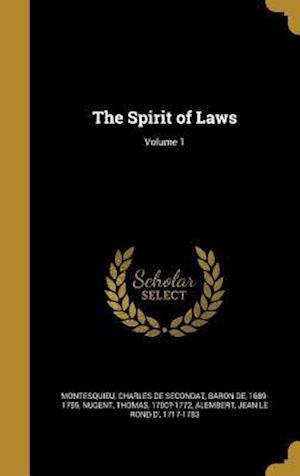 Bog, hardback The Spirit of Laws; Volume 1