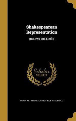 Bog, hardback Shakespearean Representation af Percy Hetherington 1834-1925 Fitzgerald