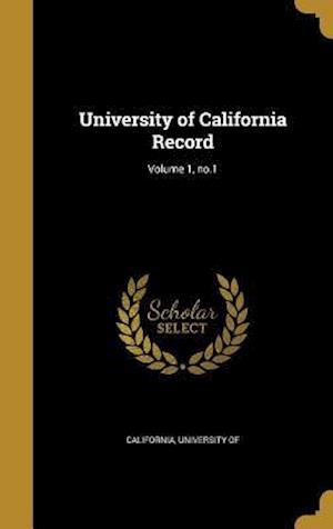 Bog, hardback University of California Record; Volume 1, No.1