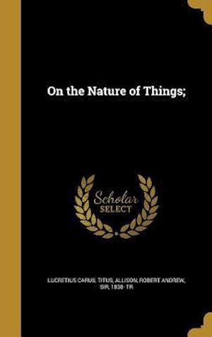 Bog, hardback On the Nature of Things;