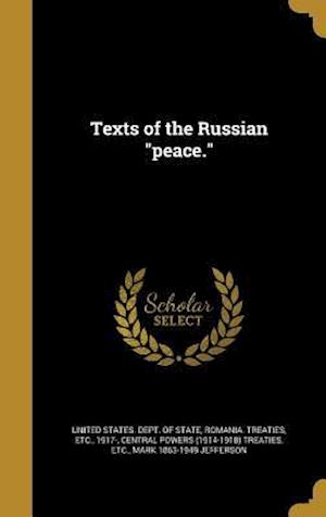 Bog, hardback Texts of the Russian Peace.