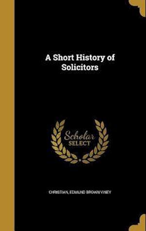 Bog, hardback A Short History of Solicitors