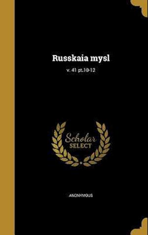 Bog, hardback Russkaia Mysl; V. 41 PT.10-12