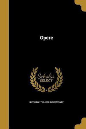 Bog, paperback Opere af Ippolito 1753-1828 Pindemonte