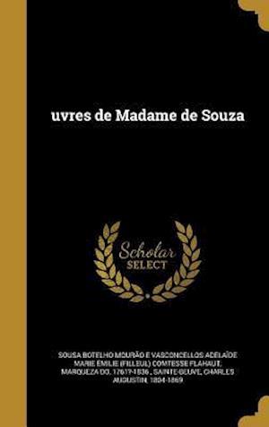 Bog, hardback Uvres de Madame de Souza