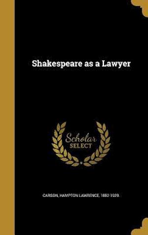 Bog, hardback Shakespeare as a Lawyer