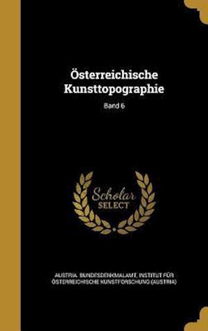Bog, hardback Osterreichische Kunsttopographie; Band 6