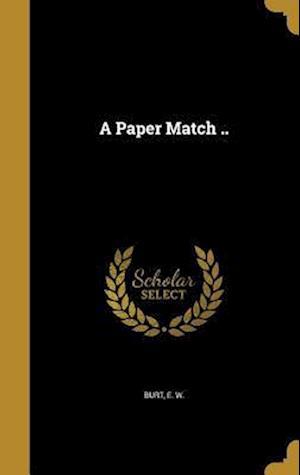 Bog, hardback A Paper Match ..