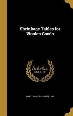 Bog, hardback Shrinkage Tables for Woolen Goods