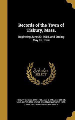 Bog, hardback Records of the Town of Tisbury, Mass.