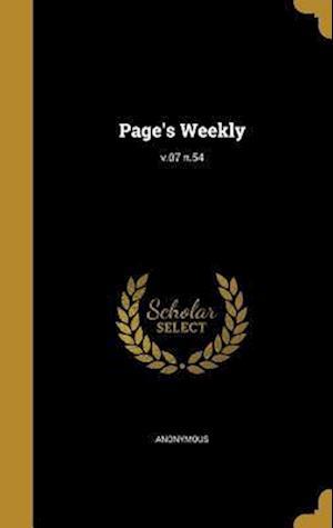 Bog, hardback Page's Weekly; V.07 N.54