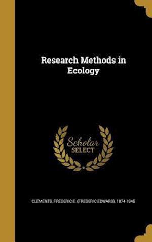 Bog, hardback Research Methods in Ecology