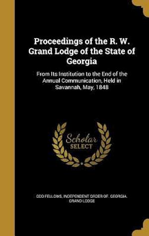 Bog, hardback Proceedings of the R. W. Grand Lodge of the State of Georgia