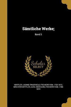 Bog, paperback Samtliche Werke;; Band 3