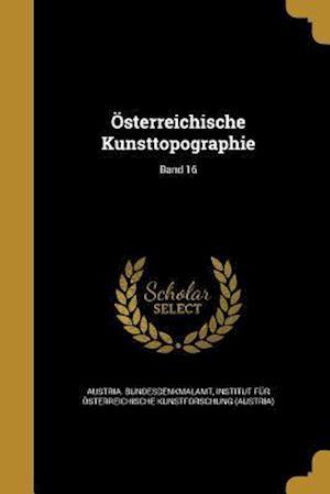 Bog, paperback Osterreichische Kunsttopographie; Band 16