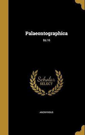 Bog, hardback Palaeontographica; Bd.16
