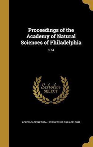 Bog, hardback Proceedings of the Academy of Natural Sciences of Philadelphia; V.54