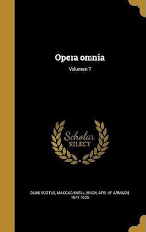 Bog, hardback Opera Omnia; Volumen 7