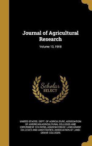 Bog, hardback Journal of Agricultural Research; Volume 13, 1918