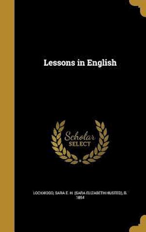 Bog, hardback Lessons in English