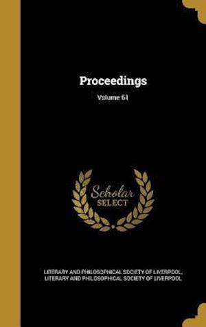 Bog, hardback Proceedings; Volume 61