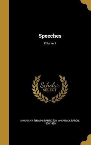 Bog, hardback Speeches; Volume 1