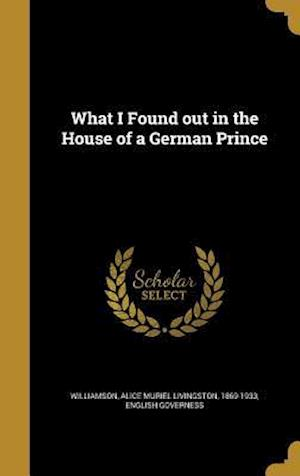 Bog, hardback What I Found Out in the House of a German Prince