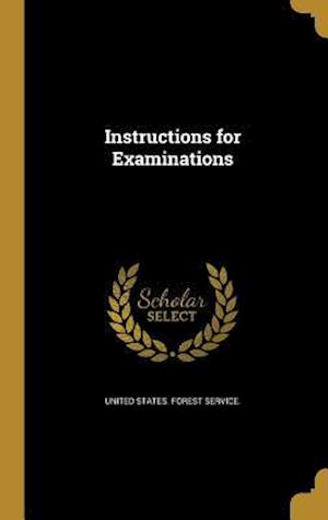 Bog, hardback Instructions for Examinations