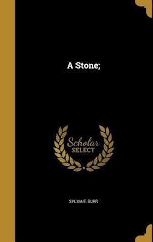 Bog, hardback A Stone; af Sylvia E. Burr