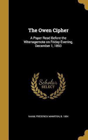 Bog, hardback The Owen Cipher