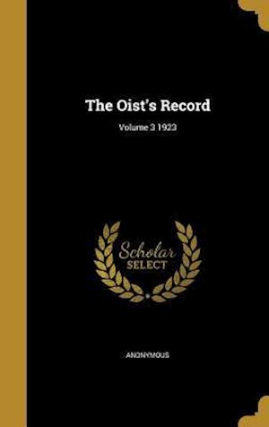 Bog, hardback The Oist's Record; Volume 3 1923