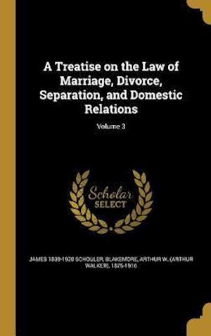 Bog, hardback A Treatise on the Law of Marriage, Divorce, Separation, and Domestic Relations; Volume 3 af James 1839-1920 Schouler